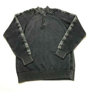 Buckle BKE Distressed Shirt Athletic Fit Sweater